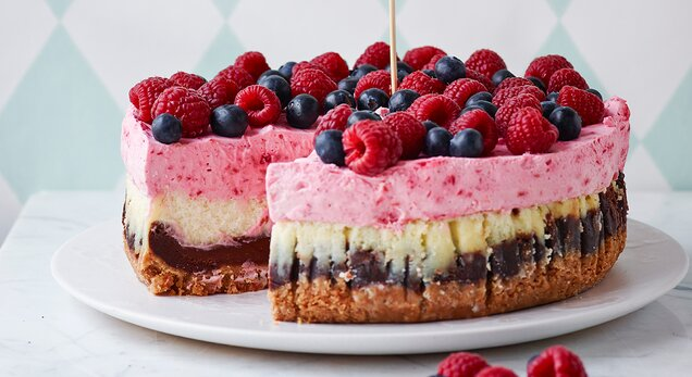 Triple Heart Attack Cheesecake