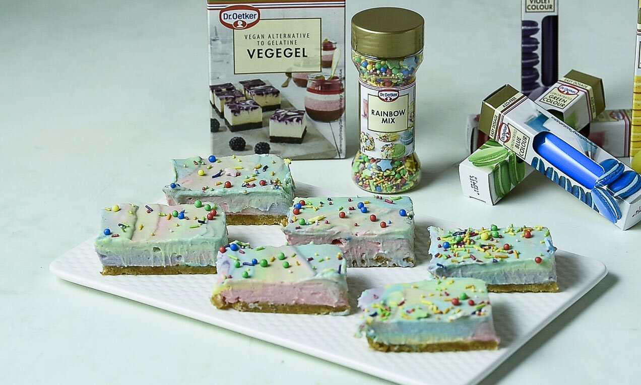 unicorn cheesecake bars