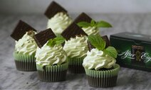 After Eight Cupcakes med Pebermynte Mousse