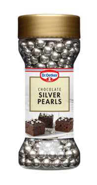 Chocolate Silver Pearls